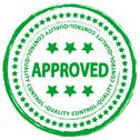 Stamp approved 4 Stock Illustration