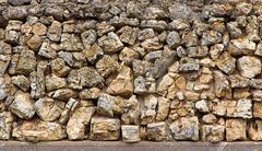 field stone backdrop - stock photo