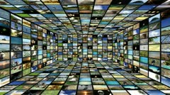 Multimedia TV wall 04 Stock Footage