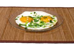 Fried eggs. Stock Photos