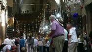 Stock Video Footage of Church of the Nativity November inside
