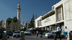 Central square of Bethlehem Stock Footage