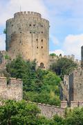 Castle of rumeli guarding the bosporus, istanbul, turkey Stock Photos