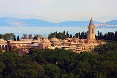 Topkapi palace before marmara sea, istanbul, turkey Stock Photos