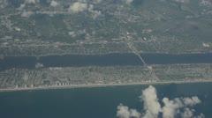 South Florida coastline aerial view Stock Footage