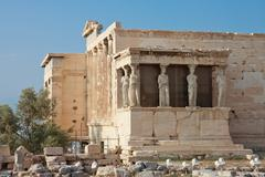 erechtheion temple, acropolis, athens, greece - stock photo