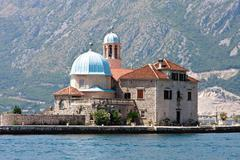 Our lady of the rock, perast, kotor bay, montegro Stock Photos