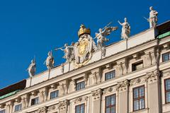 angel trumpeters at the imperial palace in vienna - stock photo