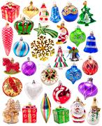 Stock Illustration of new year colorful decorations big set
