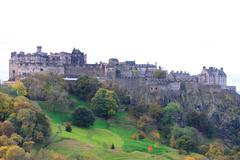 edinburgh castle close up - stock photo