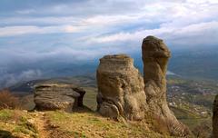 Rocky mountain view Stock Photos