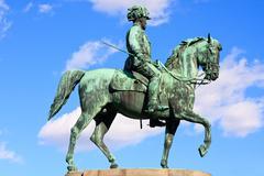 statue of archduke albrecht of austria, vienna - stock photo