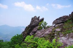 rocks on the mountaintop of chinese Nanning ridge - stock photo