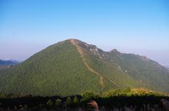 viewing the nailing ridge of china at summer - stock photo