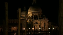 View on the basilica Santa Maria delle Salute in Venice Stock Footage
