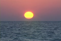 Sunset over the ocean Stock Footage