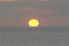 Sunrise over the ocean - stock footage