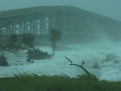 Hurricane comes ashore Stock Footage