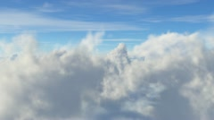 Fly Through the clouds - stock footage