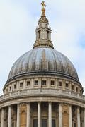 Dome of st. paul´s cathedral, london, uk Stock Photos