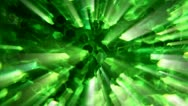 Abstract mystical green light 1 Stock Footage