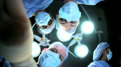 Doctors Nurses in Hospital Operating Room Faces Hands Stock Footage