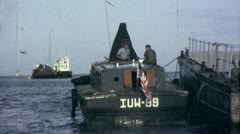 PT BOAT Mekong River On Patrol Vietnam War 1960s Vintage GI Home Movie Film 6411 Stock Footage