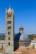 siena dome / cathedral (duomo di siena), italy - stock photo