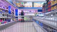 Stock Video Footage of Shopping Cart Time Lapse. 4K.