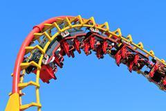 Rollercoaser ride Stock Photos