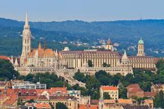 Saint matthias church and fisherman bastion in budapest, hungary Stock Photos