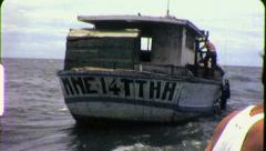 US Soldiers Searching Boats Vietnam War 1960s Vintage GI Home Movie Film 6421 Stock Footage