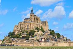 Mont saint michel abbey, normandy / brittany, france Stock Photos