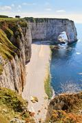 Cliffs of etretat, normandy, france Stock Photos
