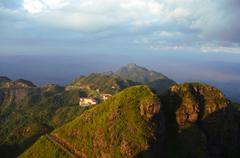 beautiful sunset at nailing of south china - stock photo