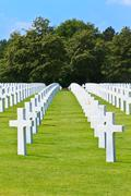 American war cemetery near omaha beach, normandy (colleville-sur-mer) Stock Photos