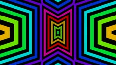 Colorful triangle mirror Stock Footage