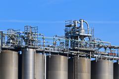 Industry bulk tank / silo Stock Photos