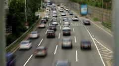 Timelapse of traffic jam on Gangbyeon Expressway Stock Footage