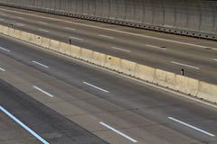 Empty motor way lanes Stock Photos