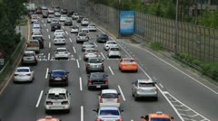 Traffic jam in Seoul Stock Footage