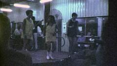 GO GO Girls Dance Bar Vietnam War Saigon 1960s Vintage GI Home Movie Film 6436 Stock Footage
