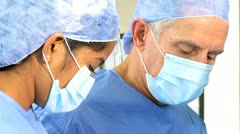 Head Shoulders Surgeon Student Wearing Surgical Clothing - stock footage