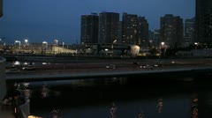 Groovy evening in Yokohama Stock Footage