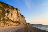 Stock Photo of cliffs near etretat and fecamp, normandy, france