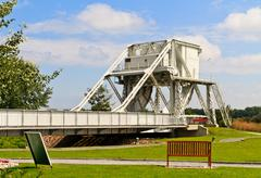 Pegasus bridge, normandy, france Stock Photos