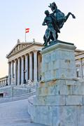 Austrian parliament in vienna Stock Photos