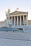 Austrian parliament in vienna Stock Photos