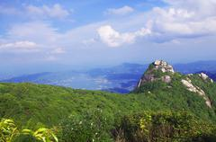 Rocks on the mountaintop of chinese Nanning ridge Stock Photos