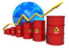 Oil trading concept - stock illustration